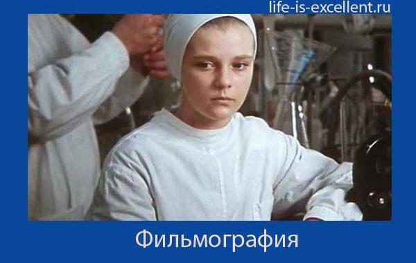 Советская и российская актриса. Фильмография