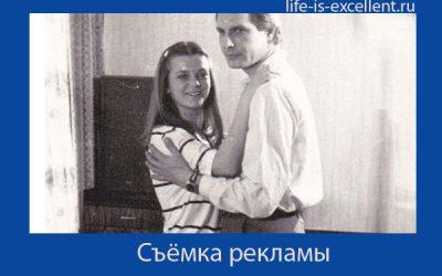 Наталья Дикарева в съёмках рекламы